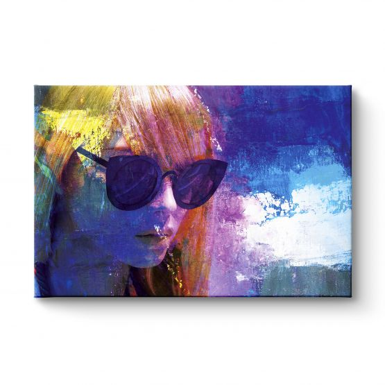 The Girl With The Sunglasses - Canvas