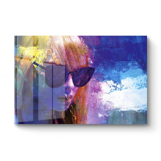 The Girl With The Sunglasses - Originele kunstwerk