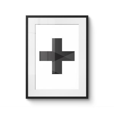 Swiss cross black - Original Kunst
