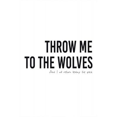Throw me to the wolves - Original Kunst