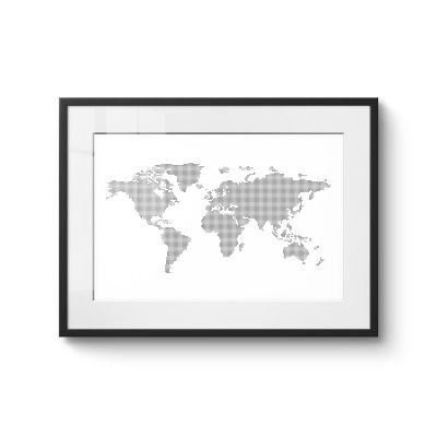 World map dots - Original Kunst
