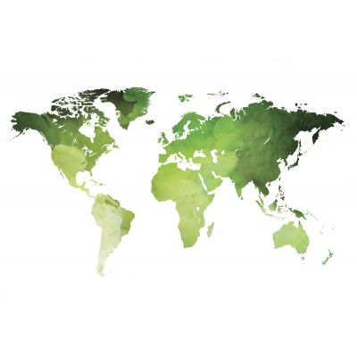 World map green - Original Kunst