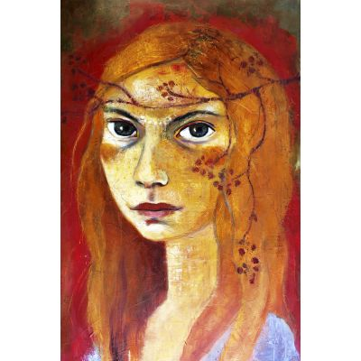 Girl with red hair - Original Kunst