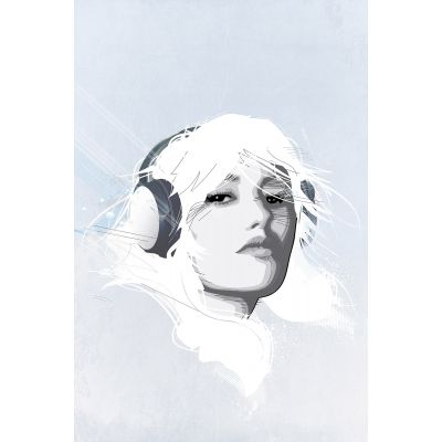 Headphone Girl 2 - Original Kunst
