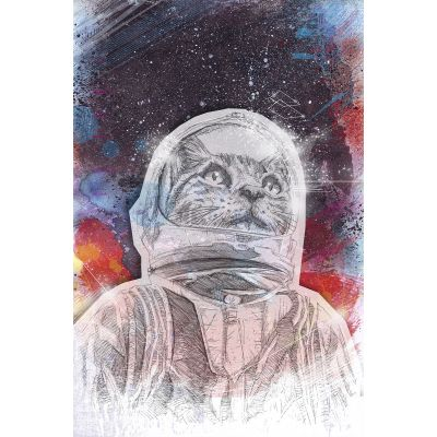 Space Cat - Original Kunst