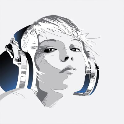 Headphone Girl 1 - Original Kunst