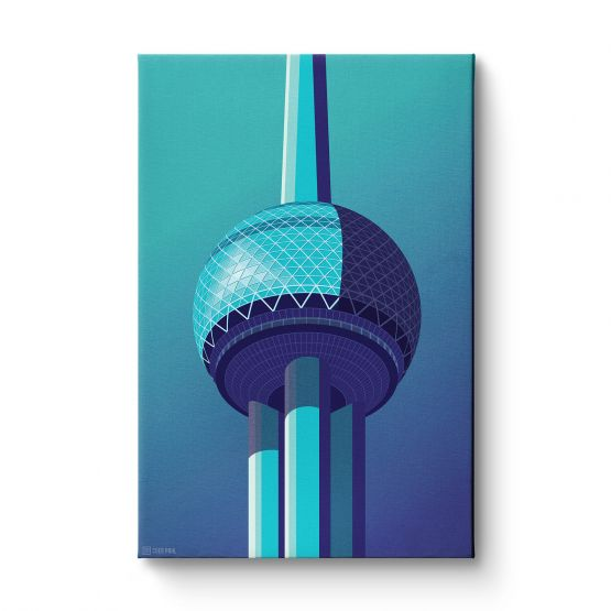 Observation Towers 5 - Canvas