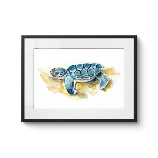 Baby Sea Turtle - Original Kunst