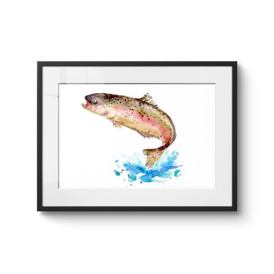 Fish Jumps - Original Kunst
