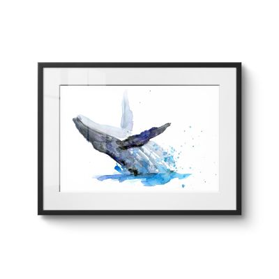 Whale jumps - Original Kunst
