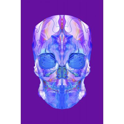 Purple Skull - Original Kunst