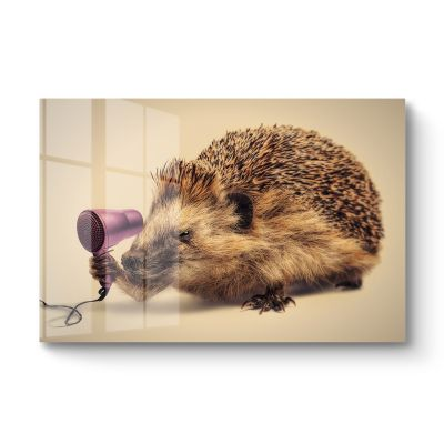 Hedgehog vs Hairdryer - Original Kunst