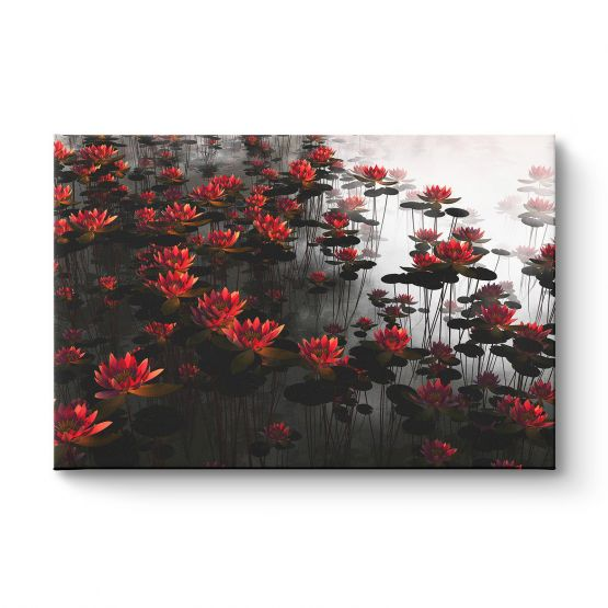 Waterlilies paster colors - Canvas