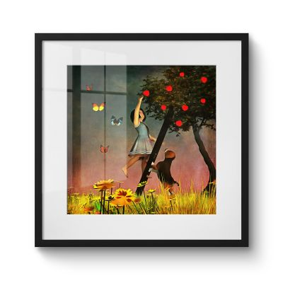 Picking Apples - Original Kunst