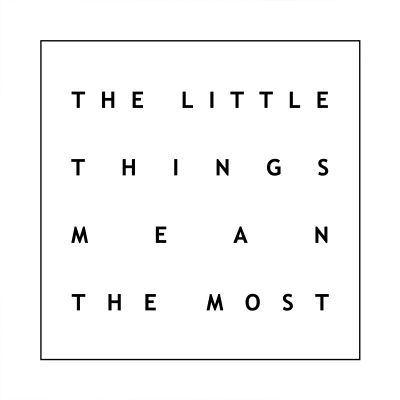 The Little Things White - Originele kunstwerk